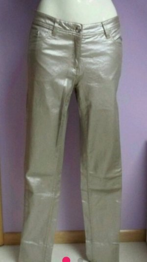 Trousers gold-colored