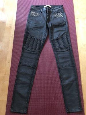 Mos Mosh Pantalón de tubo gris antracita Algodón