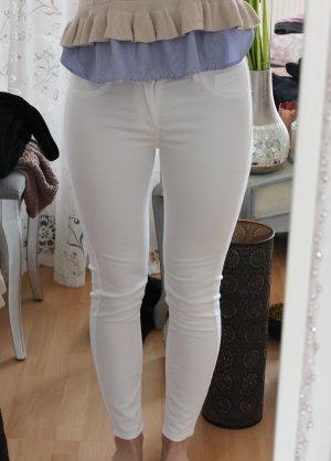 Vila Drainpipe Trousers white