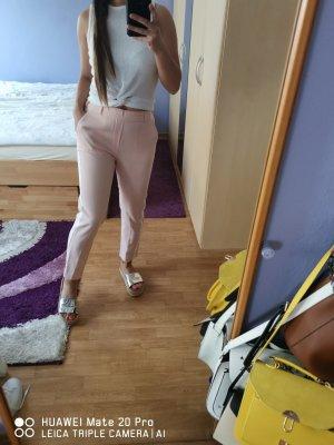 Pantalone a sigaretta bianco-rosa pallido