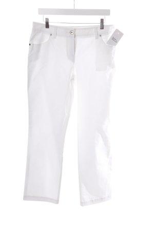 Pantalón de tubo blanco estilo clásico