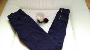 Bershka Tube jeans blauw-neon blauw
