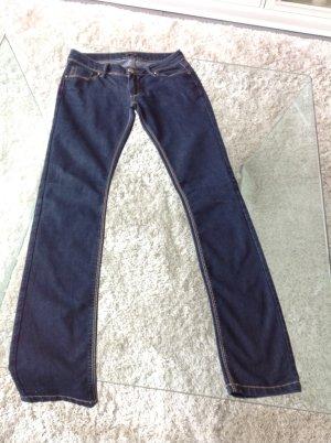Jeans cigarette bleu foncé