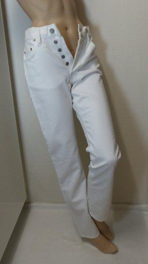 His Tube Jeans white cotton