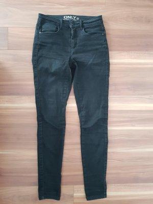 Röhrenjeans Jeans in anthrazit von ONLY Gr. S