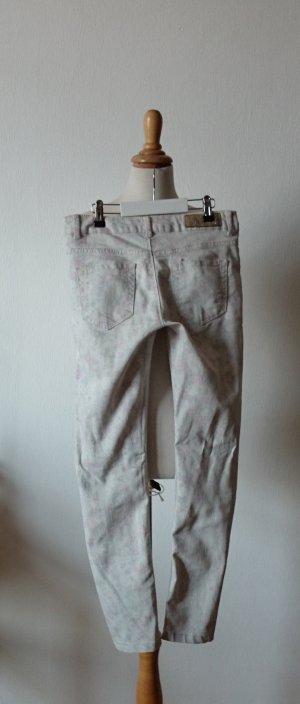 Amisu Drainpipe Trousers multicolored cotton
