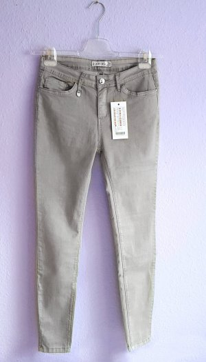 Röhrenjeans Skinny Grau Stein Silber Amisu Gr. 38