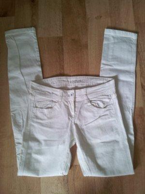 Röhrenjeans Skinny Hose | weiß von Pimkie Gr 34 NEU