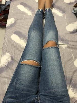Jeans a sigaretta blu