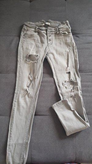 Pantalón de tubo gris