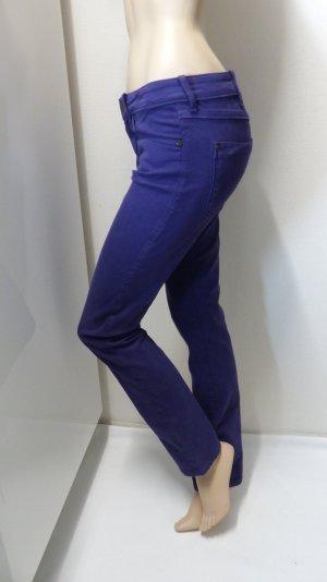 Wrangler Jeans a sigaretta viola scuro Tessuto misto