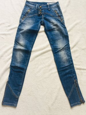 Freesoul Jeans cigarette bleu foncé-bleu coton