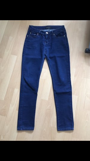 Jeans cigarette bleu-bleu foncé