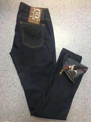 Philipp Plein Jeans cigarette bleu foncé