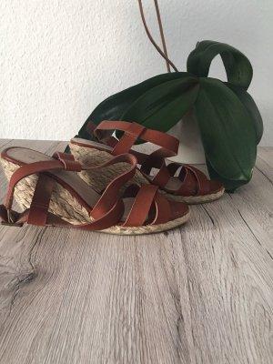 Römer-Sandale braun mit Keilabsatz