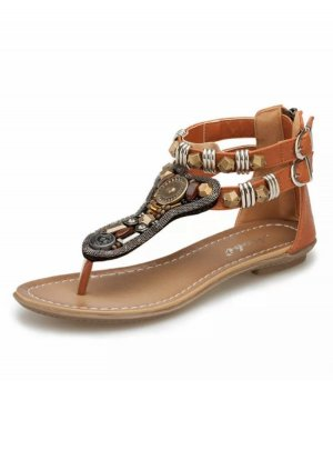 Roman Sandals cognac-coloured