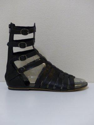 Akira Romeinse sandalen zwart Leer
