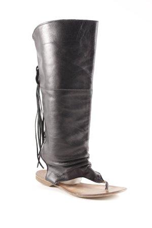 Sandalo romano nero-marrone stile country