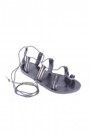 Romeinse sandalen zwart-goud Zigeuner stijl