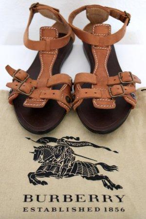 Burberry Sandalias romanas marrón Cuero