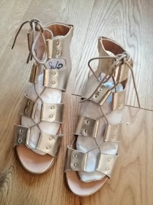 Cypres Roman Sandals gold-colored leather
