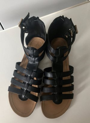 Mark Adam Roman Sandals black leather