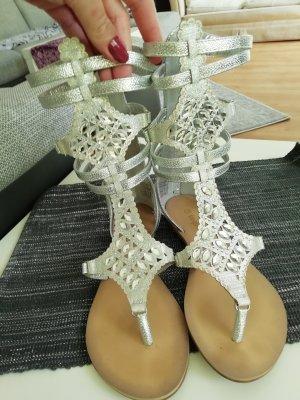 Sandalias romanas color plata