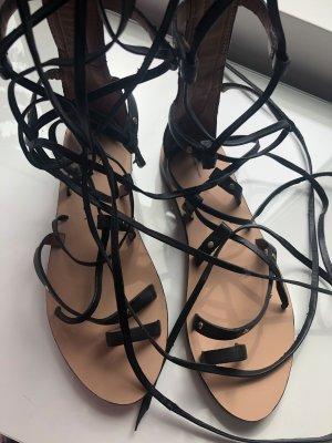 H&M Sandalias romanas negro