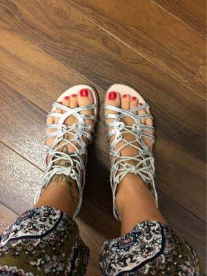 Tom Tailor Roman Sandals silver-colored
