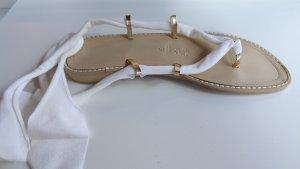Romeinse sandalen wit-goud