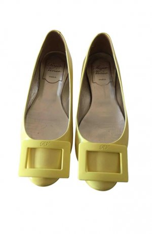Roger vivier Patent Leather Ballerinas yellow