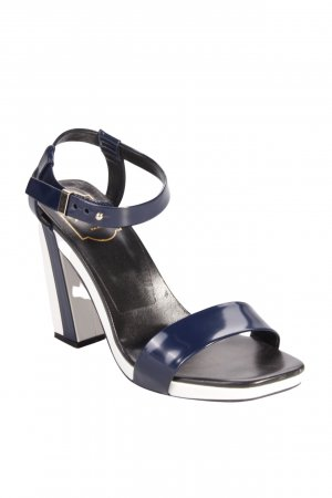 Roger vivier Strapped High-Heeled Sandals dark blue-white