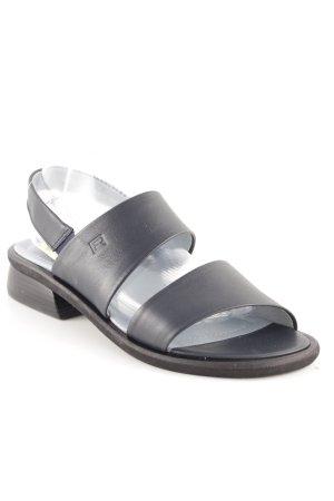 Rohde Riemchen-Sandalen schwarz-blassblau Casual-Look