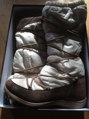 Rohde Winter stiefel Gr. 41 Beige Creme mit Schnürre und Futter aus Schurwolle
