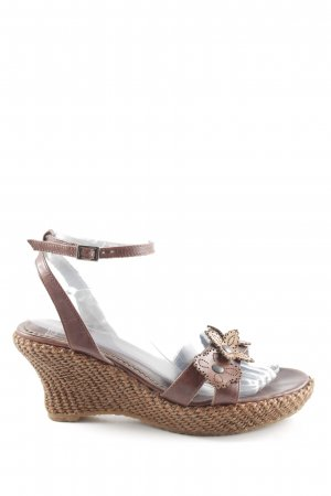 Roland Wedges Sandaletten braun Casual-Look