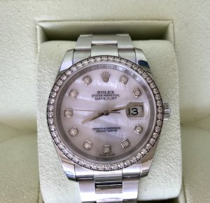 Rolex Self-Winding Watch white stainless steel
