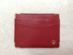 Rolex Card Case red-gold-colored leather