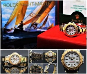 Rolex Self-Winding Watch gold-colored-silver-colored real gold