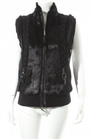 Rolf Schulte Fur vest black fluffy