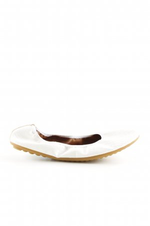 Rollbab Foldable Ballet Flats white animal pattern casual look