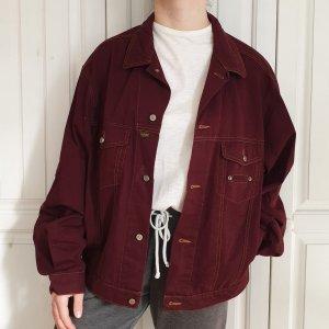 Rolling rot burgunder Jeansjacke Jeans jacke True vintage L oversize Mantel