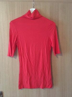 Vero Moda Camisa de cuello de tortuga rojo ladrillo