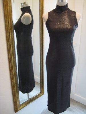 Rollkragen Bodyicon Kleid schwarz Gr M/L