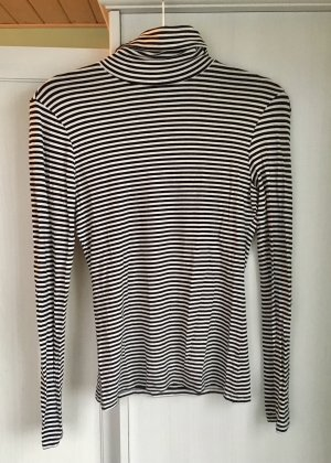 Rollkragen-Pulli Streifen H&M Gr. S schwarz weiß