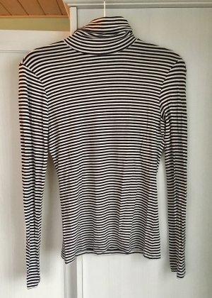 H&M Jersey de cuello alto blanco-negro