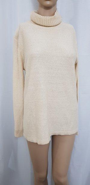 rollkragen Pullover beige Creme