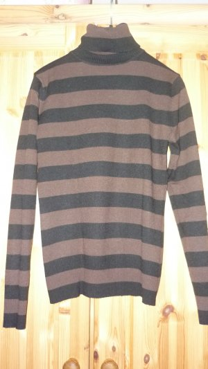 Rollkragen Pullover braun gestreift Größe S