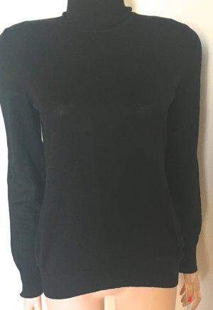 Escada Jersey de cuello alto negro tejido mezclado