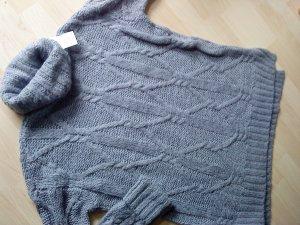 Rollkragen Pullover mit Wolle graublau Größe S