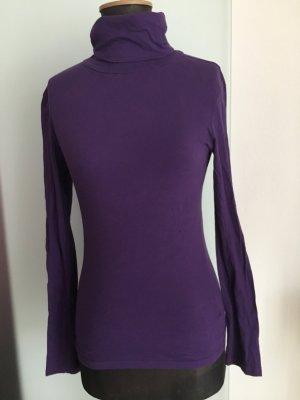 Rollkragen Pullover Shirt Gr 40 M Lila